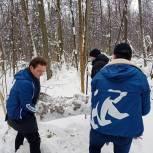 Активисты Восточного округа провели экологический субботник в парке «Лосиный остров» и расчистили лыжню