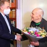 Владимир Ружицкий поздравил фронтовика из Люберец с новогодними праздниками
