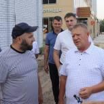 Панков: Жителям Волжского района важно не только качество ремонта тротуаров, но и сроки