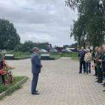 Владимир Вшивцев в Волоколамске почтил память бойцов, погибших в горячих точках