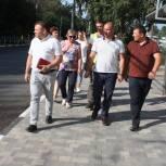 Комиссия не приняла отремонтированный участок дороги на Народном бульваре