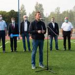 Андрей Турчак принял участие в открытии школьного стадиона в Струго-Красненском районе Псковской области