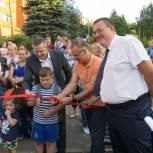 Александр Коган открыл в Пущине детскую игровую площадку