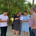 Дарья Герасимова вместе с активными жителями убедилась в качестве благоустройства