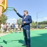 Николай Черкасов проконтролировал качество работ на спортплощадке в детском саду Балашихи