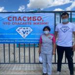 Акция в поддержку медиков, борющихся с коронавирусной инфекцией, прошла в Республике Алтай