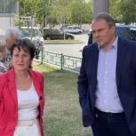 Петр Толстой и Светлана Разворотнева встретились с жителями Москворечья-Сабурова