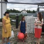 Юлия Литневская поздравила многодетную мать с рождением шестого ребенка