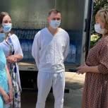 Госпиталю в Сальском районе Ростовской области передали бутилированную воду
