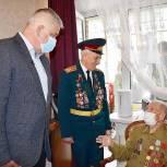 Тарас Ефимов поздравил ветерана Великой Отечественной войны из Реутова с юбилеем