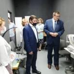 Андрей Голубев проверил работу нового медицинского оборудования в детской поликлинике Протвино