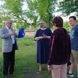 Воскресенские единороссы оказывают содействие жителям в благоустройстве пруда