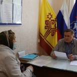 Депутат Государственного Совета Чувашии Пётр Краснов провел выездной прием жителей Комсомольского района.