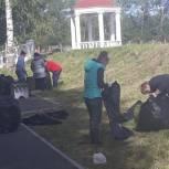 В Волчанском городском округе партийцы провели экологическую акцию «Зеленый мир»