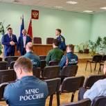 Владимир Шапкин посетил 1-ый отряд Федеральной противопожарной службы в Балашихе