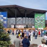 В День России в Бисерти депутаты открыли сквер «Город Мастеров»
