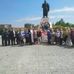 В Каслях «Единая Россия» и волонтеры Победы приняли участие в митинге «Свеча памяти»