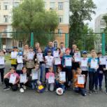 Сергей Улегин провел «веселые старты» для школьников