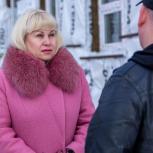 Виктория Голубева побывала на стройплощадке школы-детского сада в микрорайоне Снежный
