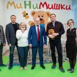 Сергей Пахомов в рамках рабочей поездки в Пушкинский округ посетил детский игровой центр