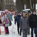 Владимир Шапкин принял участие в масленичных гуляниях в Щелково