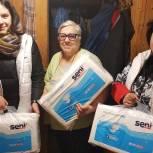 Серпуховские волонтеры доставили пенсионерке средства первой необходимости