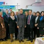Никита Чаплин посетил с рабочим визитом среднюю школу № 14 в Коломне