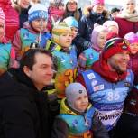 «Единая Россия» провела лыжные соревнования для дошкольников в Коле Мурманской области