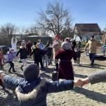 В Кропоткине проводили Масленицу на новой детской площадке