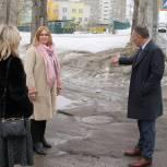 В Энгельсе «Единая Россия» добилась ремонта подходов к школам