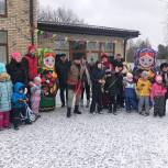 Партийцы приняли участие в масленичных гуляниях в деревне Подушкино