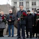 На Ленинградском проспекте открыт памятный знак, посвященный 18-й дивизии Московского народного ополчения
