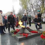 Лариса Лазутина и Дмитрий Голубков приняли участие в праздничных митингах 9 мая