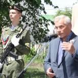 Владимир Ульянов открыл памятник пограничникам в Сладково