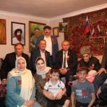 Единороссы Казбековского района посетили ветерана ВОВ на дому