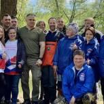 Единороссы Солнечногорска приняли участие в субботнике на Екатерининском канале