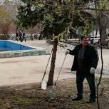 Депутат отремонтировал памятник в сквере «Победы» в Ленинском районе