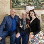 Депутат республиканского парламента Сиражудин Гамидов поздравил ветерана ВОВ с Днём Победы