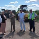 Татьяна Панфилова проконтролировала ход дорожного ремонта в Кадомском районе