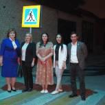 По инициативе единороссов в Дагестане появился первый лазерный пешеходный переход