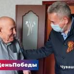 Леонид Черкесов поздравил с Днем Победы ветерана - артиллериста
