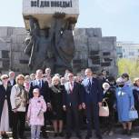В канун Дня Победы прошли возложения цветов на мемориальных комплексах