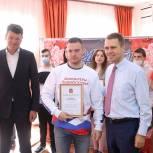 Денис Кравченко и Никита Чаплин провели встречу с волонтерами Луховиц