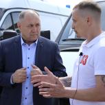 В Абинскую центральную районную больницу Краснодарского края поступили две машины скорой помощи