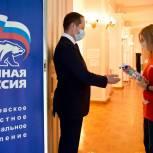 Член генерального совета партии «Единая Россия» Роман Терюшков посетил участок предварительного голосования в Жуковском