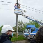 В липецком селе решили проблему отсутствия уличного освещения в частном секторе