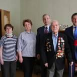 103-летнего ветерана, участника трех войн, поздравили с 9 Мая