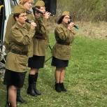 «Фронтовая бригада» приехала поздравить участника войны в село Беляйково Вачского района