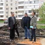 Михаил Вдовин проконтролировал ход благоустройства дворовой территории