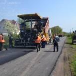 В деревне Мелекшино Старожиловского района ремонтируют дорогу